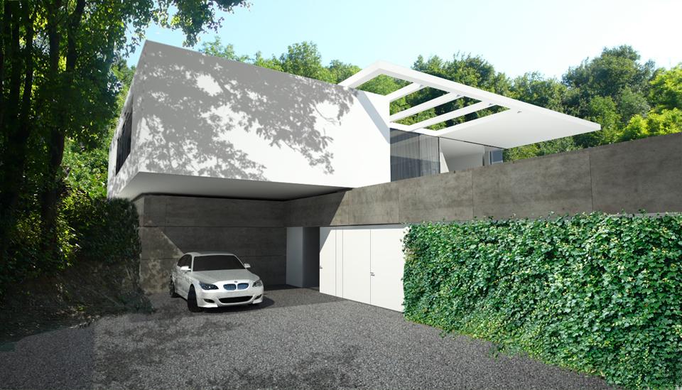 Haus am Bisamberg - Zufahrt