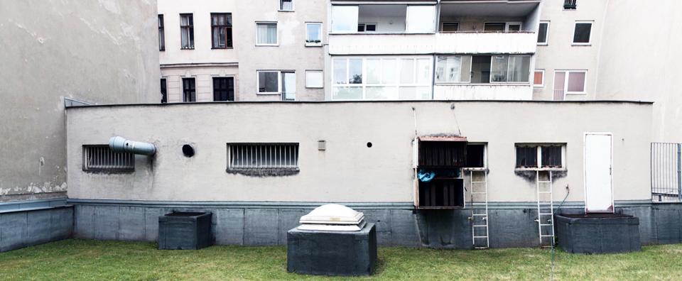 Hoffassade vor Umbau