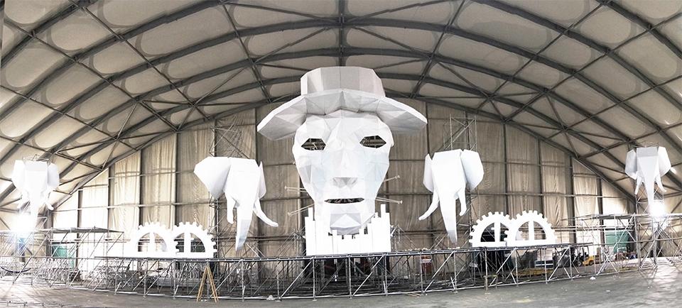 Ansicht Bühnendeko UAF